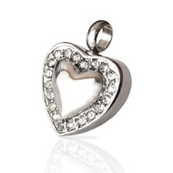 """Sweetheart"" Cremation Urn Necklace Pendant in Silver Finish"