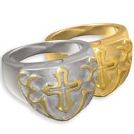 Men's Cross Cremation Ring