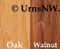 Urn Wood Choices: Oak, Walnut