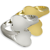 Double Heart Companion Cremation Ring