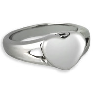 Elegant Heart Cremation Ring
