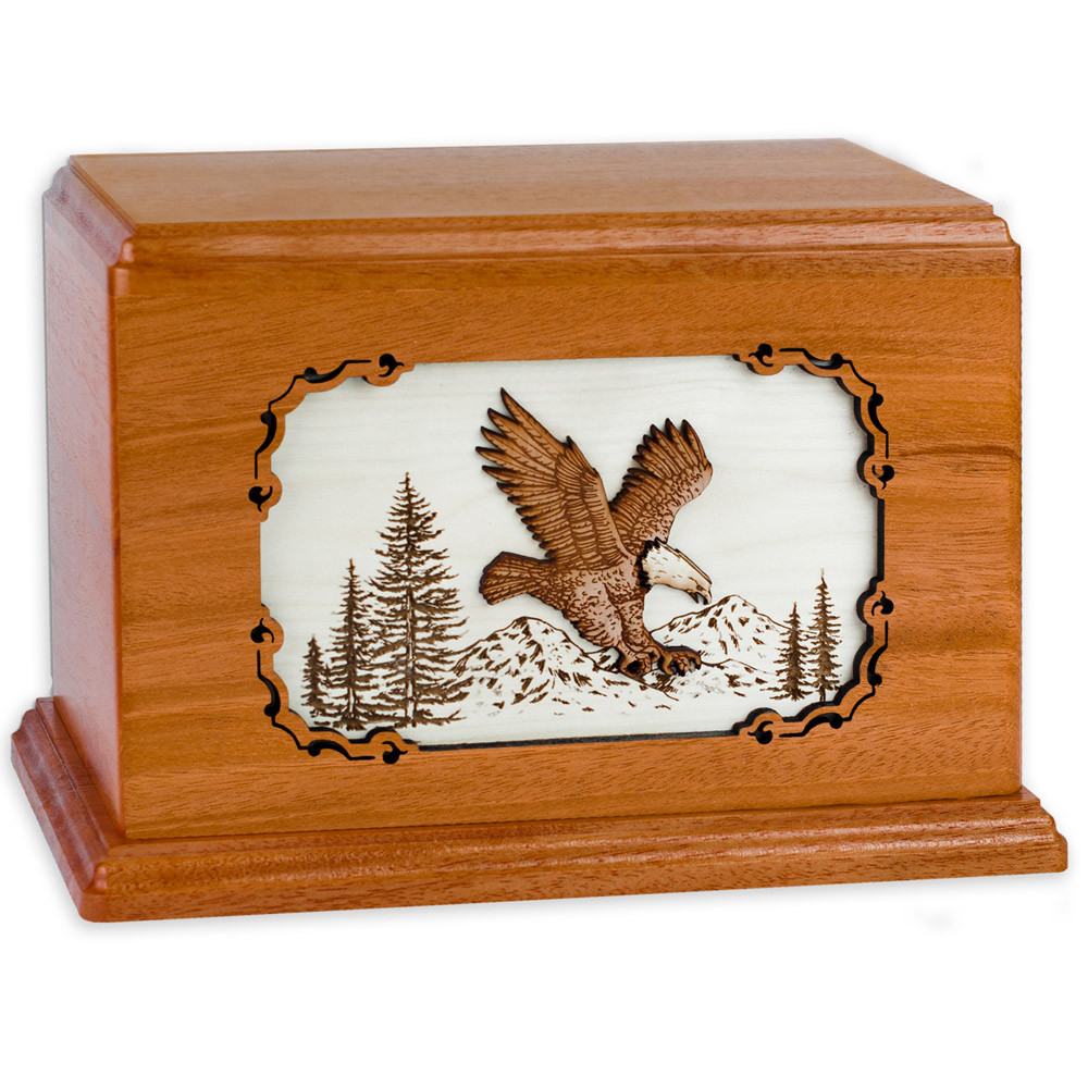 fe0e41b44ebb Companion Cremation Urn with American Eagle 3D Wood Inlay - Urns ...