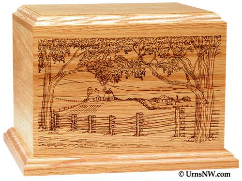 Farm Scene Cremation Urn