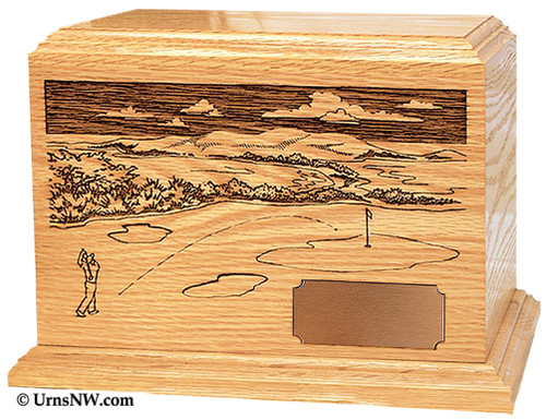Golf Wood Cremation Urn