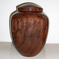 Pure Walnut Wood Hand Turned Cremation Urn