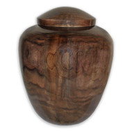 Walnut Wood Companion Urn for Two People, Hand Turned