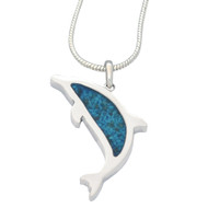 Dolphin Pendant Memorial Necklace