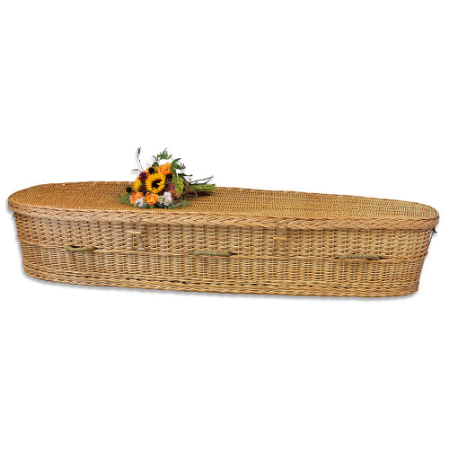 Biodegradable Casket for Burial or Cremation in Woven Willow - Eco-Friendly  & Sustainable