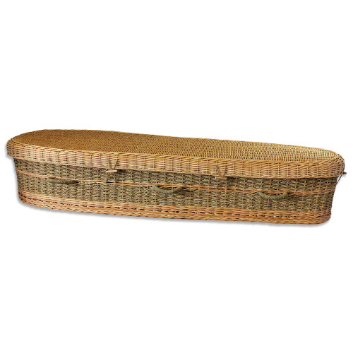 Biodegradable Seagrass Casket for Burial or Cremation