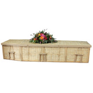 A beautiful natural burial casket