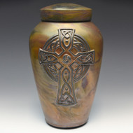 Handcrafted Celtic Cross Cremation Urn - Rosensus Finish