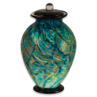 Hand Blown Glass Cremation Urn - Amato Aegean