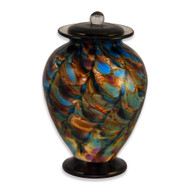 Amato Evening Hand Blown Glass Cremation Urn
