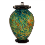 Amato Sky Hand Blown Glass Cremation Urn