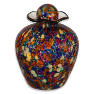 Hand Blown Glass Funeral Urn - Bella - Desert