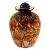 Hand Blown Glass Funeral Urn - Bella - Evening