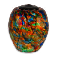 Classic Hand Blown Glass Urn - Autumn