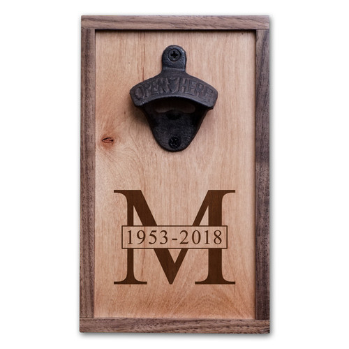 Personalized Sympathy Gift Bottle Opener Memorial