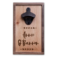 Walnut and Maple Wood Bottle Opener Sympathy Gift