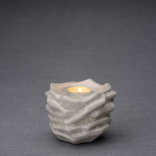Radiance Tealight Candle Small Cremation Urn in Craquelure Finish