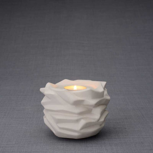 Radiance Tealight Candle Small Cremation Urn - Unglazed