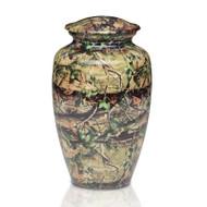 Camouflage Metal Cremation Urn