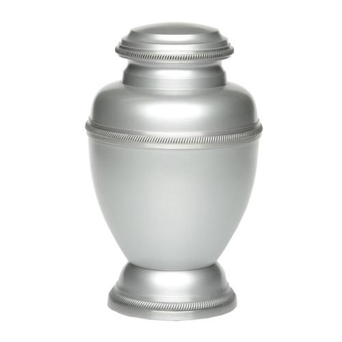Triumph Metal Cremation Urn - Silver Color