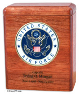 Military Keepsake Urn - Stained Cherry