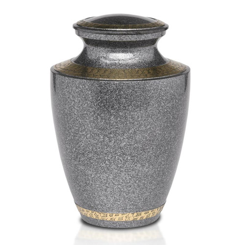 Speckled Black Brass Cremation Urn