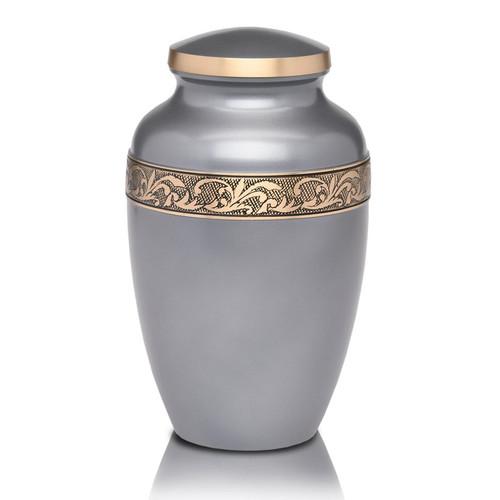 Gunmetal Gray Brass Urn