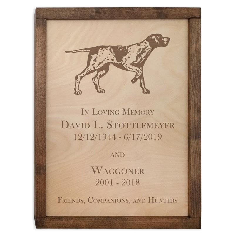 Custom Wall Mounted Wood Cremation Urn Plaque Your Text Or Art