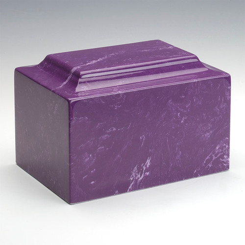 Classic Cultured Marble Urn in Amethyst