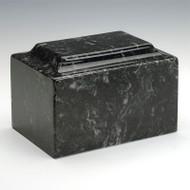 Classic Cultured Marble Urn in Ebony