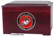 Military Memory Chest - Rosewood
