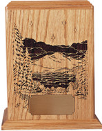 Evening Reflections Cremation Urn | With Optional Wood Base