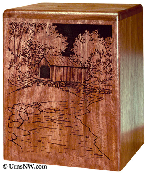 Covered Bridge Urn for Ashes