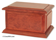 Boston II Companion Urn in Cherry Wood