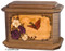 Wood Octagon Butterfly Cremation Urn - Walnut