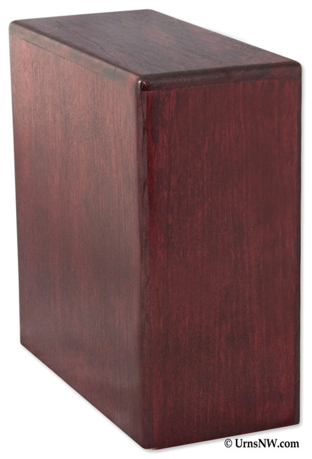 Bookshelf Budget Urn | Rosewood Finish
