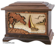 Sof breezes -  Sailing boat cremation urn