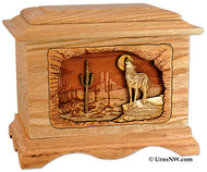 Desert Moon Coyote Cremation Urn