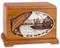 Boat Fishing Urn - Mahogany Wood - Salmon