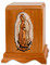 Our Lady of Guadalupe Cremation Urn in Mahogany