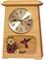 Astoria Clock Urn - Oak with Hummingbird