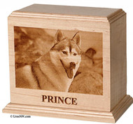 Engraved Photo Pet Urn