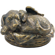 Dog Cremation Urn - Bronze