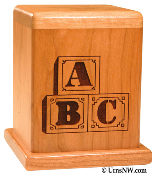 Blocks Infant Urn | Child Cremation Urns