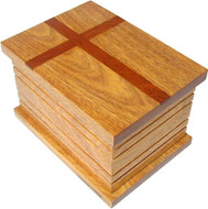Faith Wood Cremation Urn - Oak