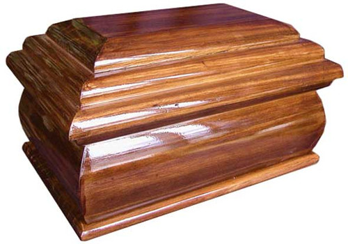 Wood Cremation Urn | Eminence Urn in Radiata | Honey Brown Finish
