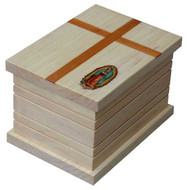 Cross Cremation Urn | Our Lady of Guadalupe Urn | Radiata Wood